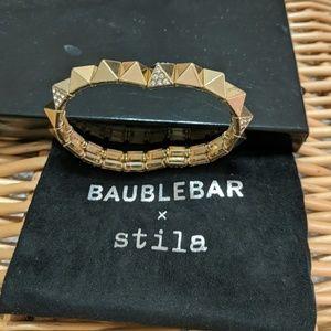 Gold and rhinestone  Baublebar bracelet